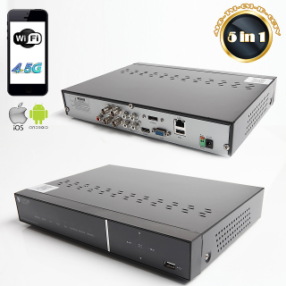 RAYDIN FOCUS-S04 5Mpix, H264, 4Kanal Video, 4Kanal Ses, 1 HDD, 1944P, 3G Wifi, RaydinView 5in1 DVR
