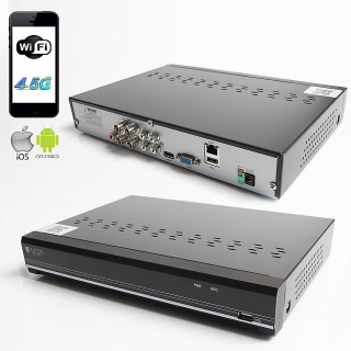 RAYDIN SONIC-K04 2Mpix, H264, 4Kanal Video, 4Kanal Ses, 1 HDD, 1080N, 3G Wifi, RaydinView 5in1 DVR