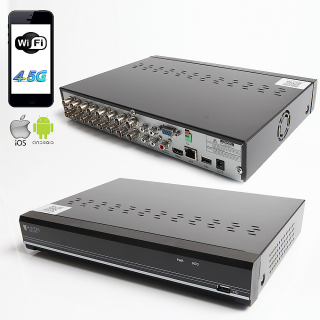RAYDIN SONIC-K16 2Mpix, H264, 16Kanal Video, 4Kanal Ses, 1 HDD, 1080N, 3G Wifi, RaydinView 5in1 DVR