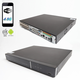 RAYDIN SONIC-K17 2Mpix, H264, 16Kanal Video, 16Kanal Ses, 2 HDD, 1080N, 3G Wifi, RaydinView 5in1 DVR